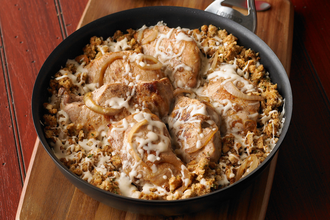 French Onion-Pork Chop Skillet