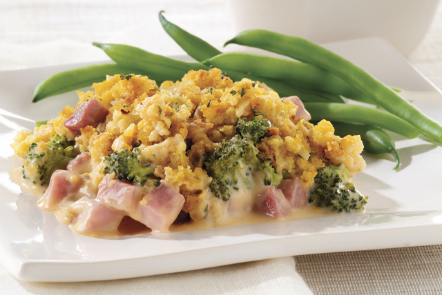 Cheesy Ham & Broccoli Bake