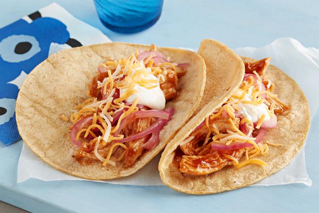 Easy BBQ Shredded Chicken Taco
